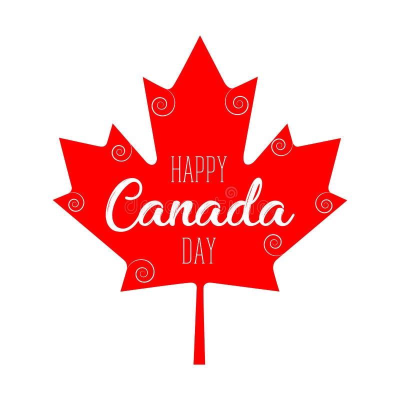 Happy canada day royalty free illustration
