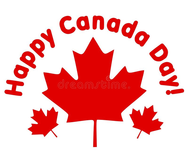 Happy Canada Day Maple Leaves royalty free illustration