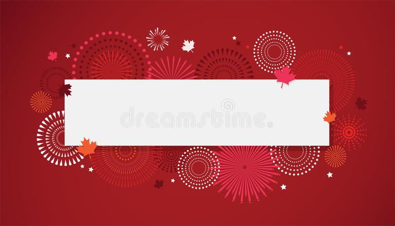 Happy Canada Day poster. 1st july. Vector illustration greeting card. Canada Maple leaves on white background stock illustration