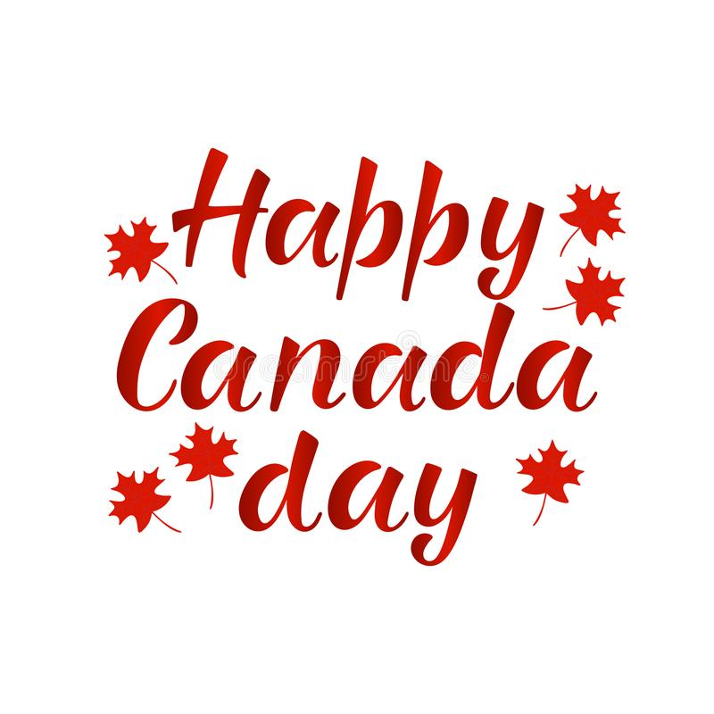 Happy Canada Day Realistic Red Maple Leafs Stock Illustration Illustration Of Flyer Hand 119561037
