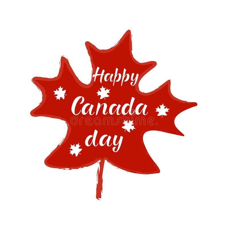 Happy Canada Day Realistic Red Maple Leafs Stock Vector Illustration Of Layout Emblem 119561121