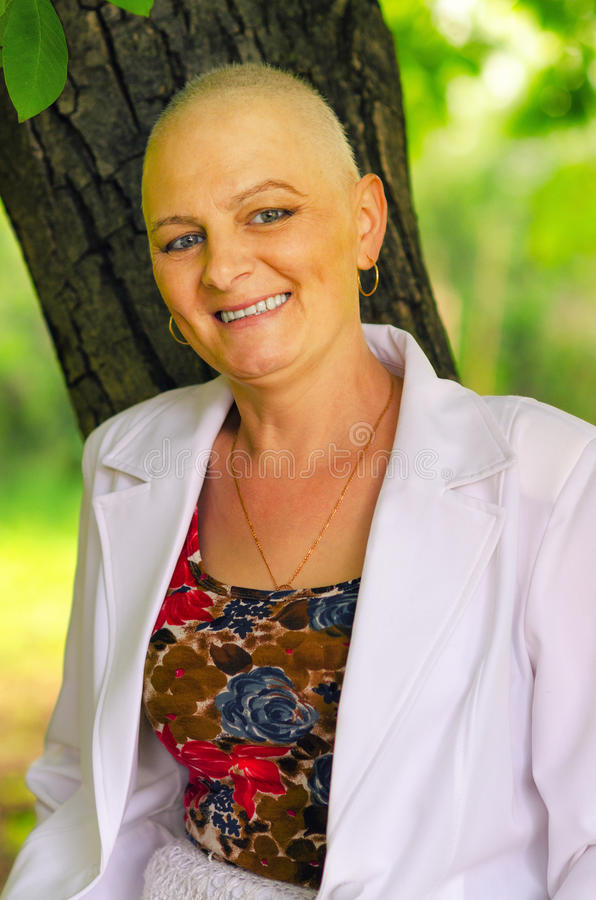 Happy cancer survivor. After successful chemotherapy stock photography