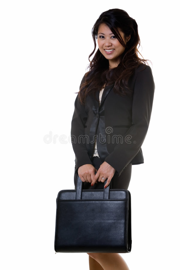 Download Happy career woman stock image. Image of chinese, portfolio - 2601159