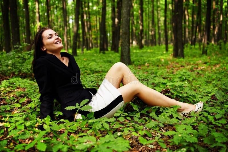 Happy Careless Businesswoman Outdoor Stock Photo