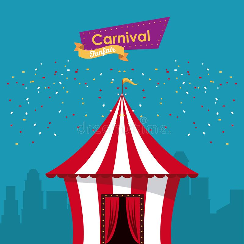 Happy carnival design stock illustration
