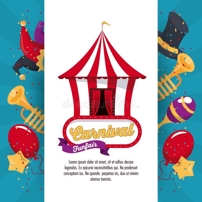 Happy carnival design royalty free illustration