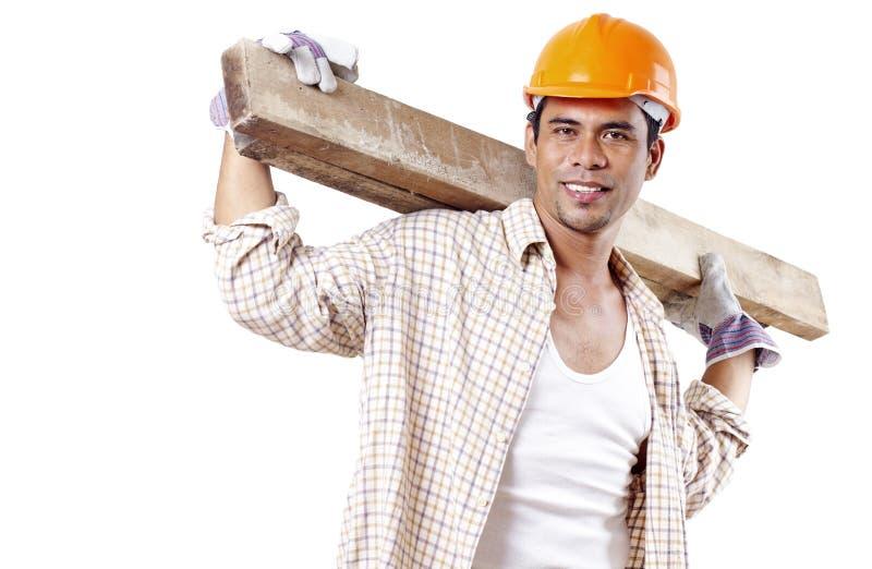 Happy Carpenter royalty free stock photos
