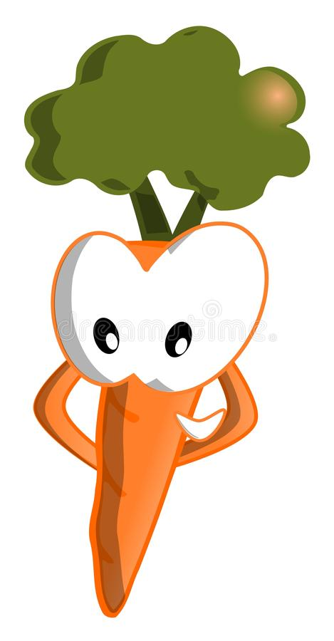 Download Happy Carrot stock image. Illustration of fresh, closeup - 25615541