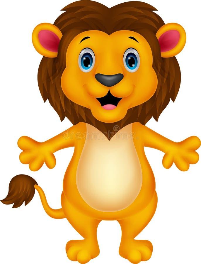 Happy carton lion posing. Illustration of Happy carton lion posing royalty free illustration