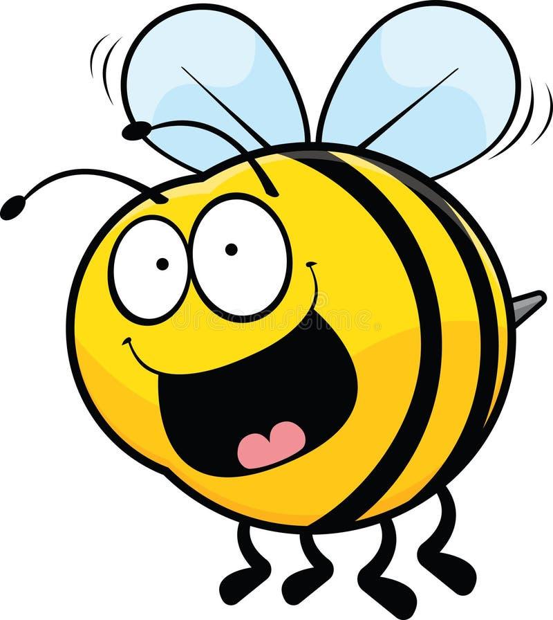 Happy cartoon bee stock vector illustration of clip