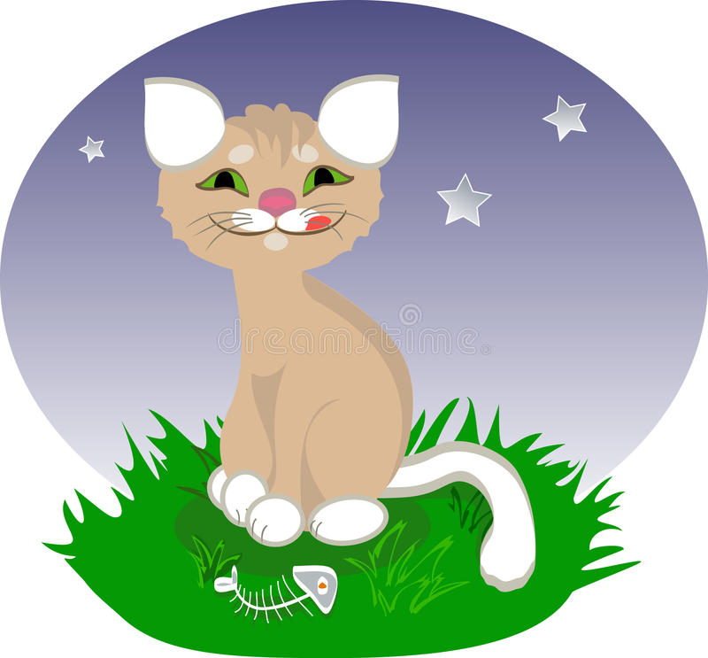 Download A Happy Cartoon Cat Stock Photos - Image: 9743583