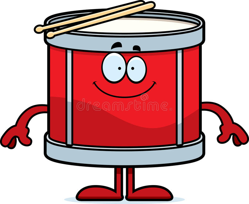 Happy Cartoon Drum vector illustration