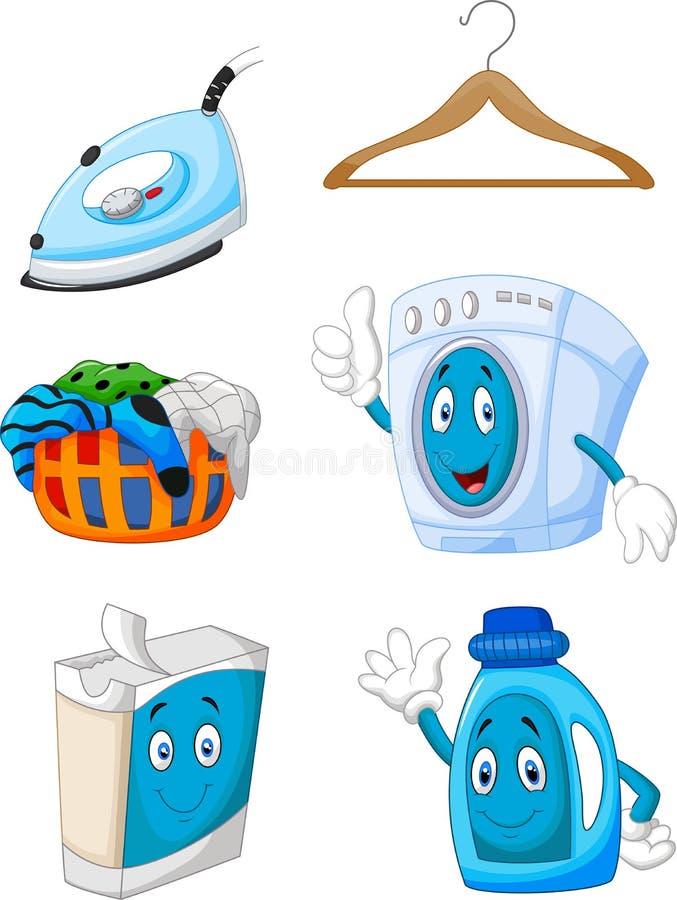 Happy cartoon laundry stock illustration
