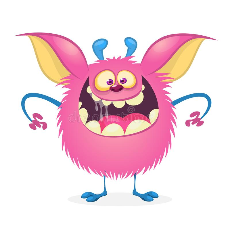 Happy cartoon monster stock illustration