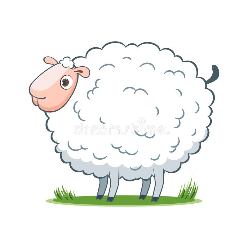 Happy cartoon sheep royalty free illustration