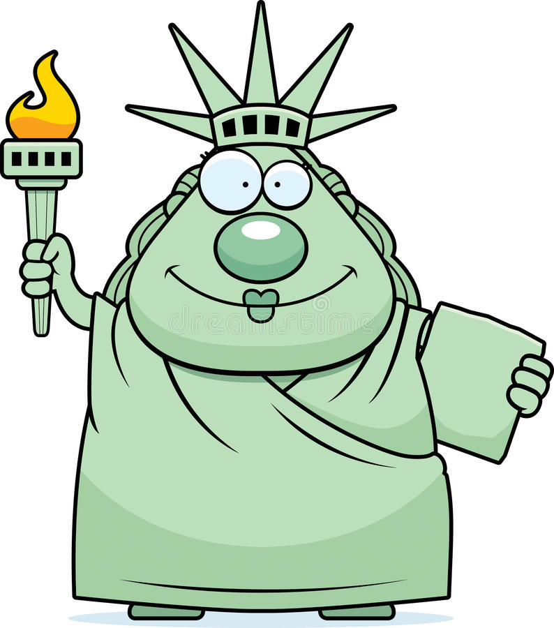 happy cartoon statue of liberty stock vector illustration of happy rh dreamstime com statue of liberty clipart black and white statue of liberty clipart free