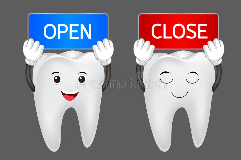 Happy cartoon tooth royalty free illustration