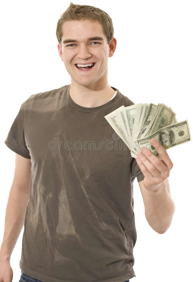 Happy With Cash royalty free stock image