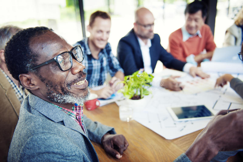 Happy and Casual Businessmen in a Conference.  stock photography