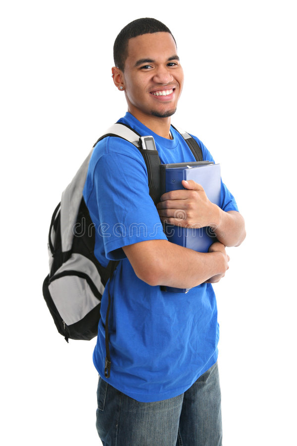 Download Happy Casual Dressed Young Black College Student Stock Photo - Image: 8807570