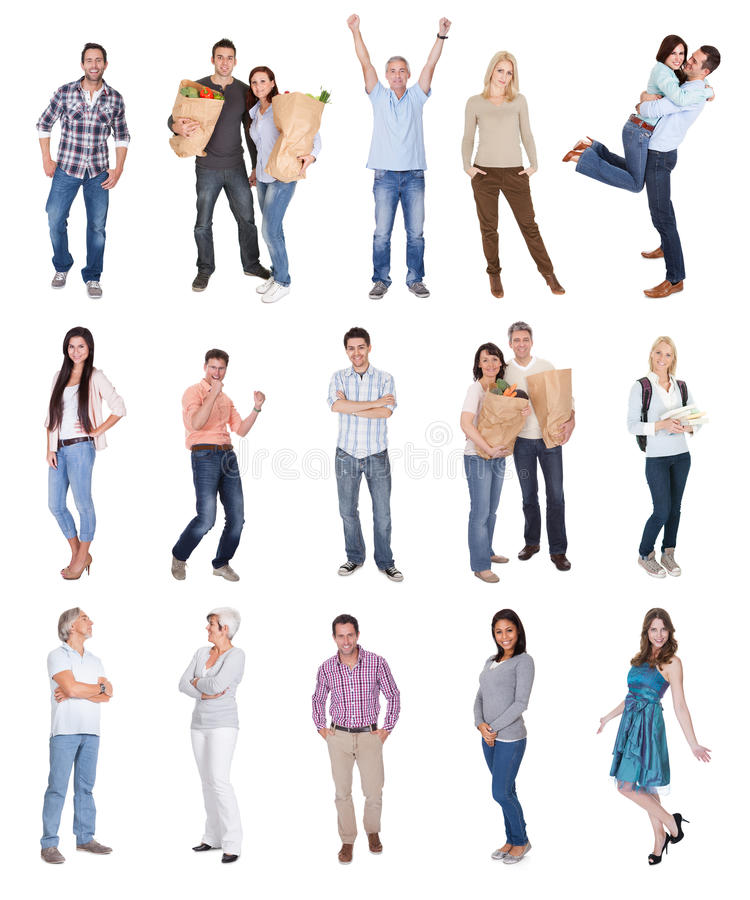 Happy casual people photos stock images