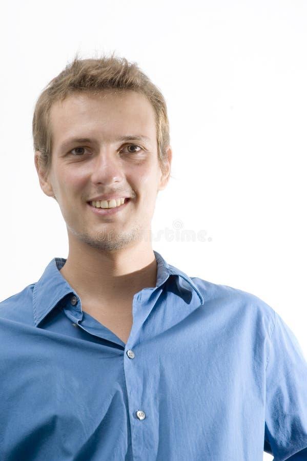 Happy caucasian male stock photos