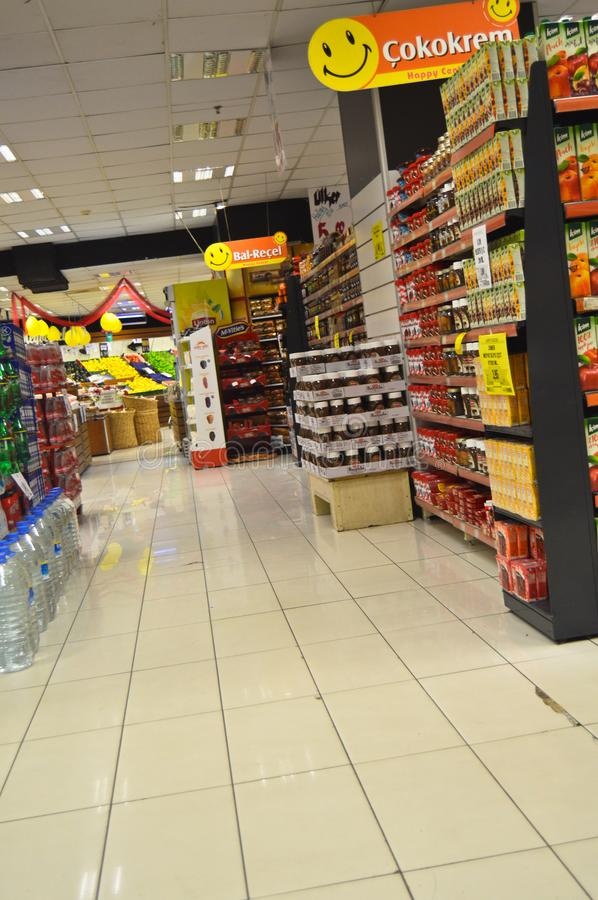 Happy Center super markets chain Istanbul Maltepe. Istanbul Maltepe Happy Center super markets chain, people shopping royalty free stock photos
