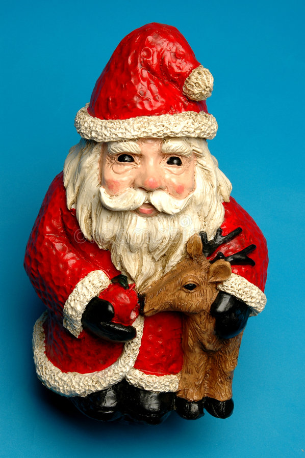 Happy Ceramic Santa Stock Photos