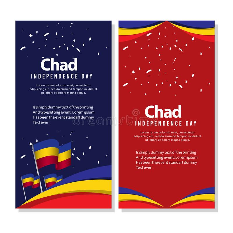 Happy Chad Independence Day Celebration Poster Vector Template Design Illustration. Background, holiday, country, freedom, national, flag, international royalty free illustration