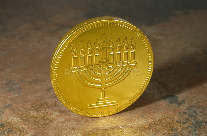 Download Happy Chanukah Coin stock photo. Image of holiday, chocolate - 1591862