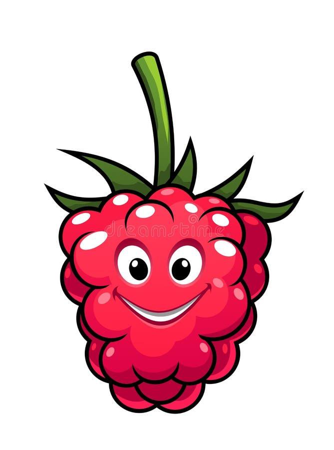 Happy cheeky cartoon raspberry stock illustration