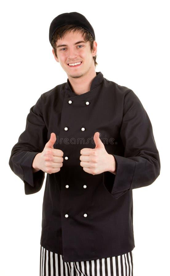 Really happy chef stock photo