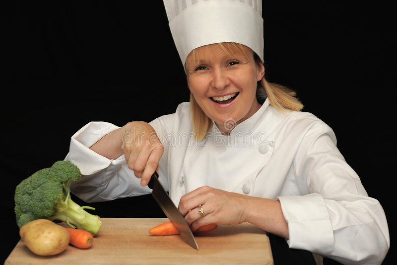 Download Happy Chef stock photo. Image of blond, middle, cutting - 5833496