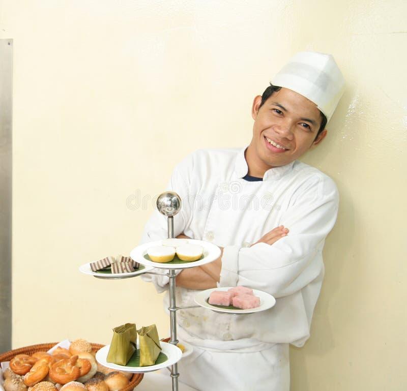 Happy chef royalty free stock photo