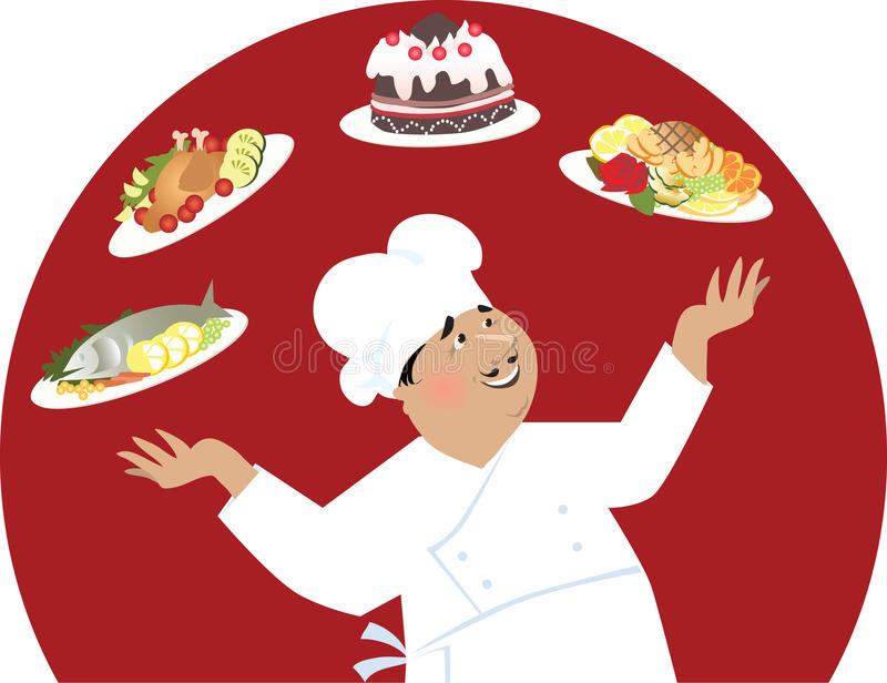 Happy chef vector illustration