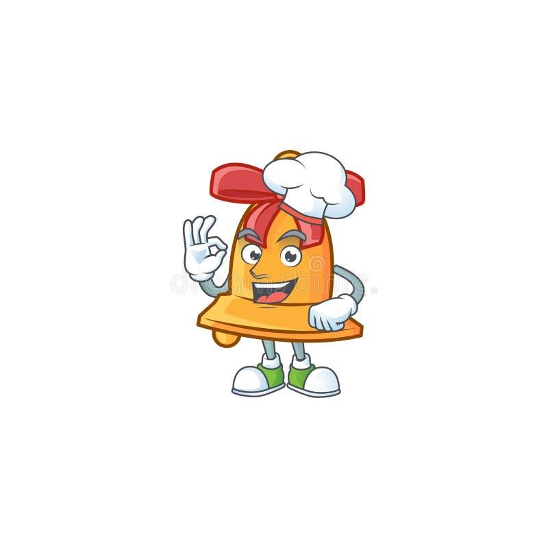Happy Chef bożonarodzeniowy bohaterka z kreskówką z białym kapeluszem ilustracji