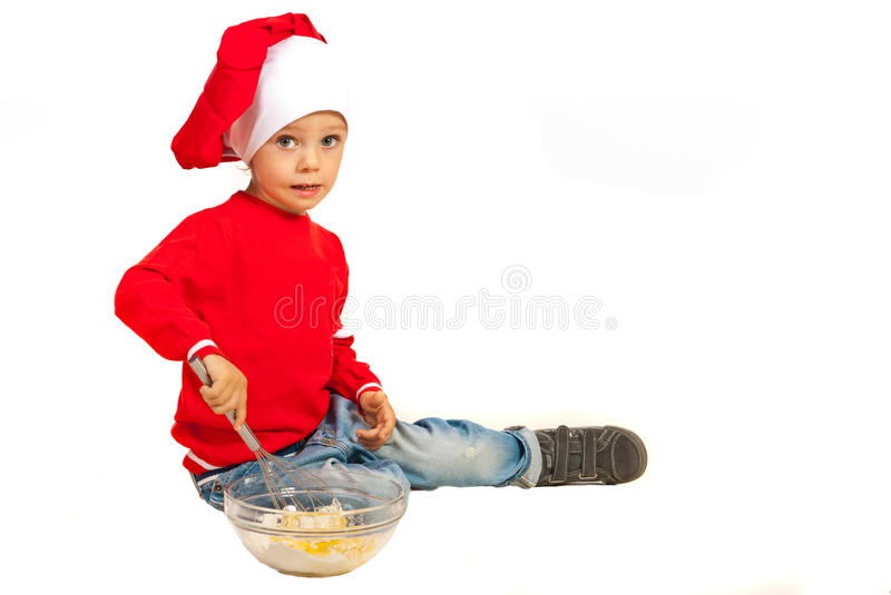 Happy chef boy royalty free stock photography
