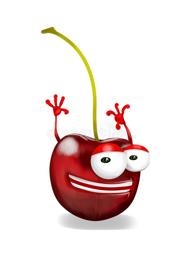 Download Happy Cherry Cartoon Character Laughing Joyfully Stock Illustration - Illustration of cherry, looking: 39503682