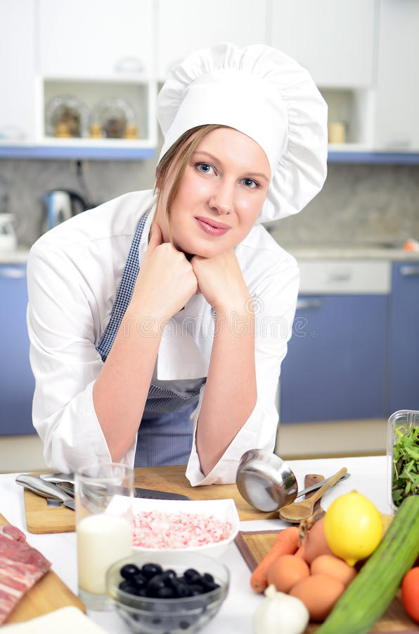 Download Happy chief cook stock image. Image of female, caucasian - 22381153