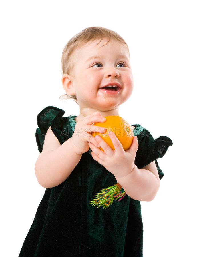 Download Happy child stock photo. Image of food, holding, looking - 16969420
