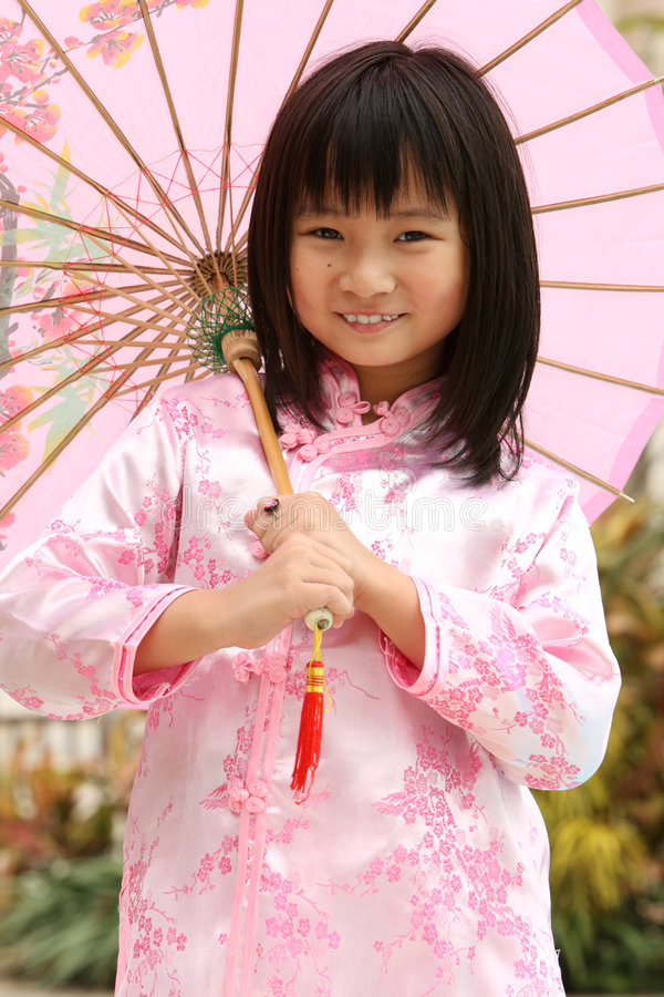 Download Happy Child stock image. Image of umbrella, outdoor, chinese - 7001995