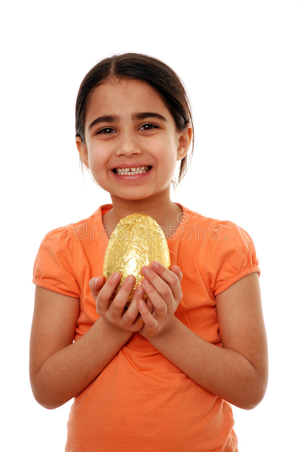 Happy child with Easter egg royalty free stock photography