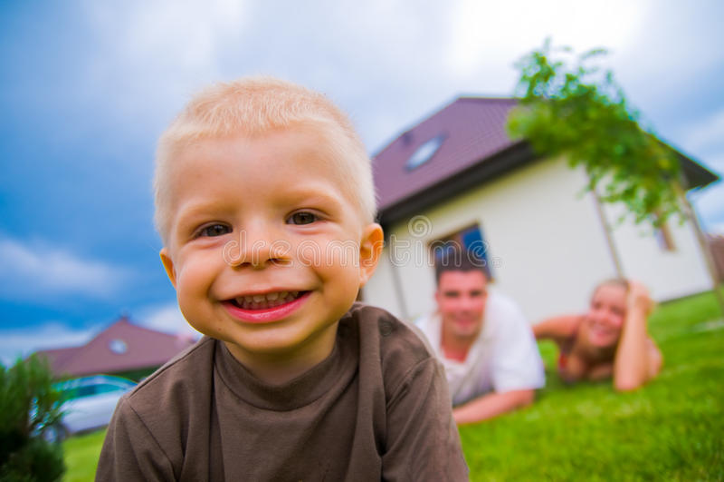 Happy child, happy life royalty free stock image