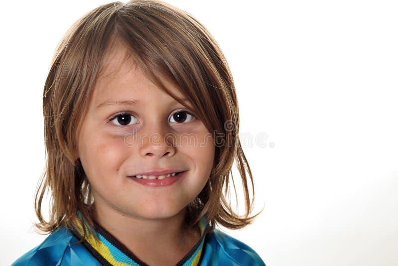 Happy child isolated on white stock image