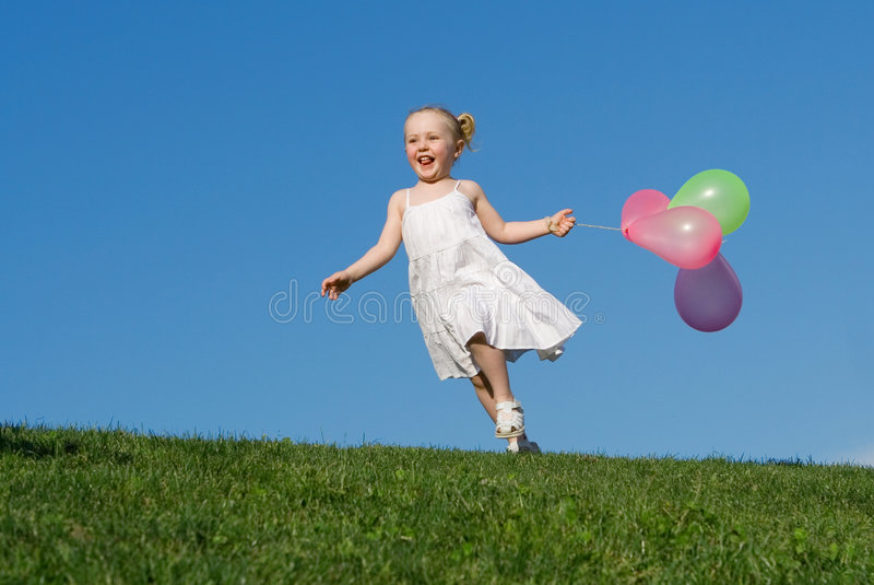 Happy child playing royalty free stock photography
