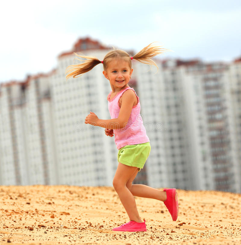Download Happy child running stock photo. Image of game, child - 25812304