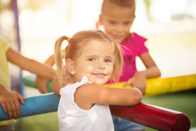 Happy child smiles on the face. stock photography