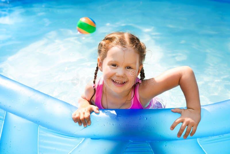 Happy Child Swimming stock photography