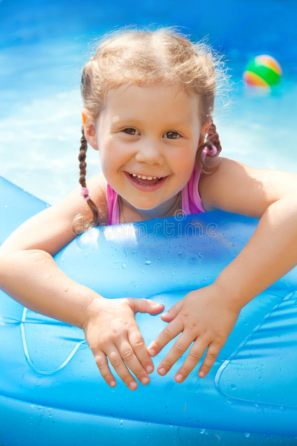 Happy Child Swimming royalty free stock image