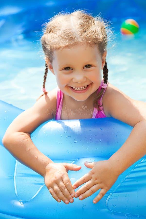 Happy Child Swimming royalty free stock photo